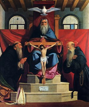 Holy Trinity with Augustine and Giorgio of Cremona
